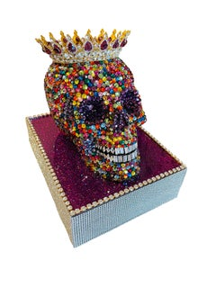 KING PRINCE: THE LEGEND LIVES ON (Swarovski Skull w/ Custom Base + Crown)