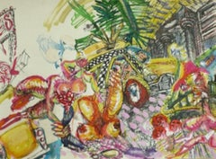 """""""Untitled,"""" Mixed Media on Paper - Expressive Drawing"""