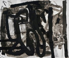 """""""Composition II,"""" Mixed Media on Paper - Black and White work on paper"""