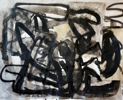 """""""Composition III,"""" Mixed Media on Paper - Black and White work on paper"""