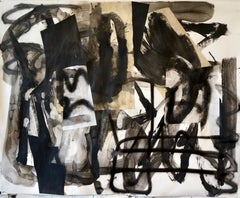 """""""Composition IV,"""" Mixed Media on Paper - Black and White work on paper"""