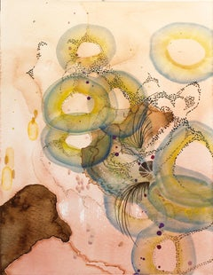 """""""Riverbed,"""" Watercolor on Paper - Biomorphic Abstraction"""