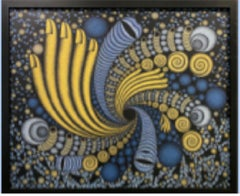 """""""Black Hole,"""" Rich Gold and Acrylic on Canvas"""