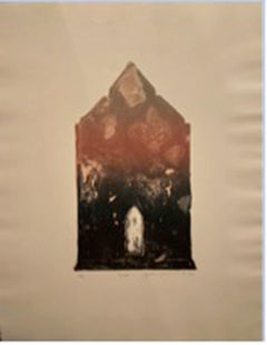 """""""Temple 1"""" - Signed Lithograph on Handmade Paper"""