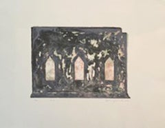 """""""Temple II"""" - Signed Lithograph on Handmade Paper"""