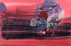"""Effect-6 ,"" Acrylic on Canvas - Surrealist"