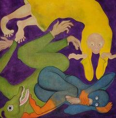 """Desire, Motives, Assassins.,"" Oil on Canvas - Figurative Painting"