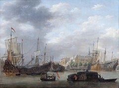 View of the Amsterdam Harbor with the West India Company Warehouse