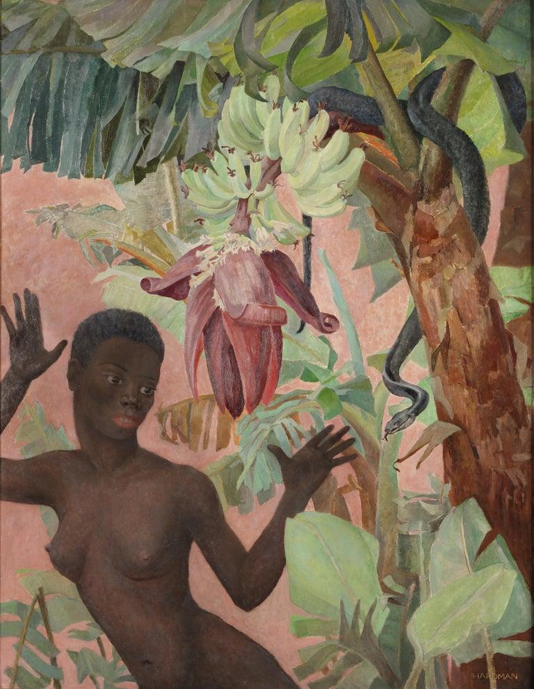 Winifred Elizabeth Beatrice Hardman Nude Painting - 'Eve' (the Snake)