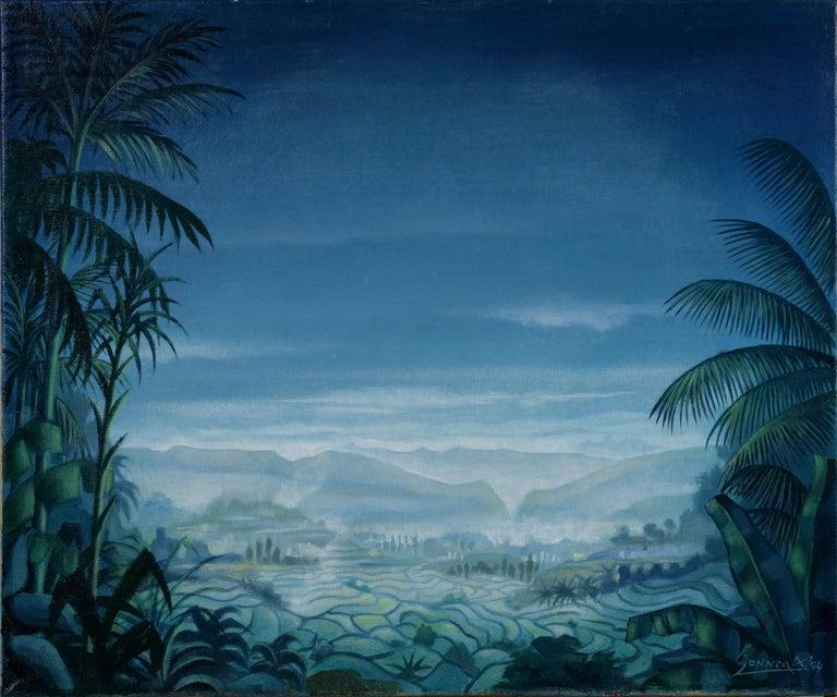 Auke Sonnega Landscape Painting - Sawah Landscape