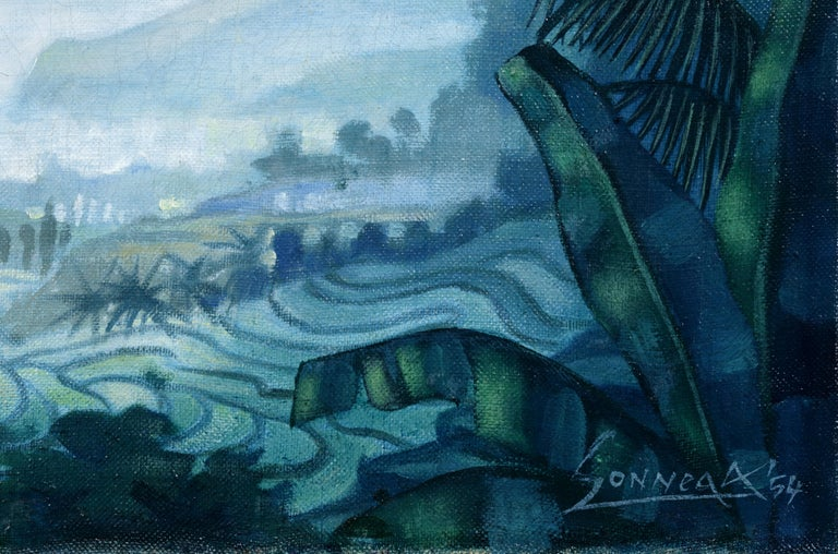 Sawah Landscape - Painting by Auke Sonnega