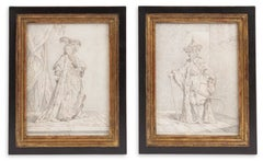 Costume drawings for 'Ambassadeur de Siam' and 'La Sultana Reine'