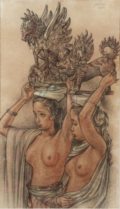 Two Balinese Beauties (Mapeed), circa 1945