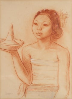 """A Balinese woman with offerings""  (1936)"