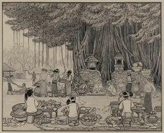 Market under the Banyan, Bali, 1937