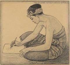 Portrait of artist Ida Bagoes Ketut Diding, Bali, 1937