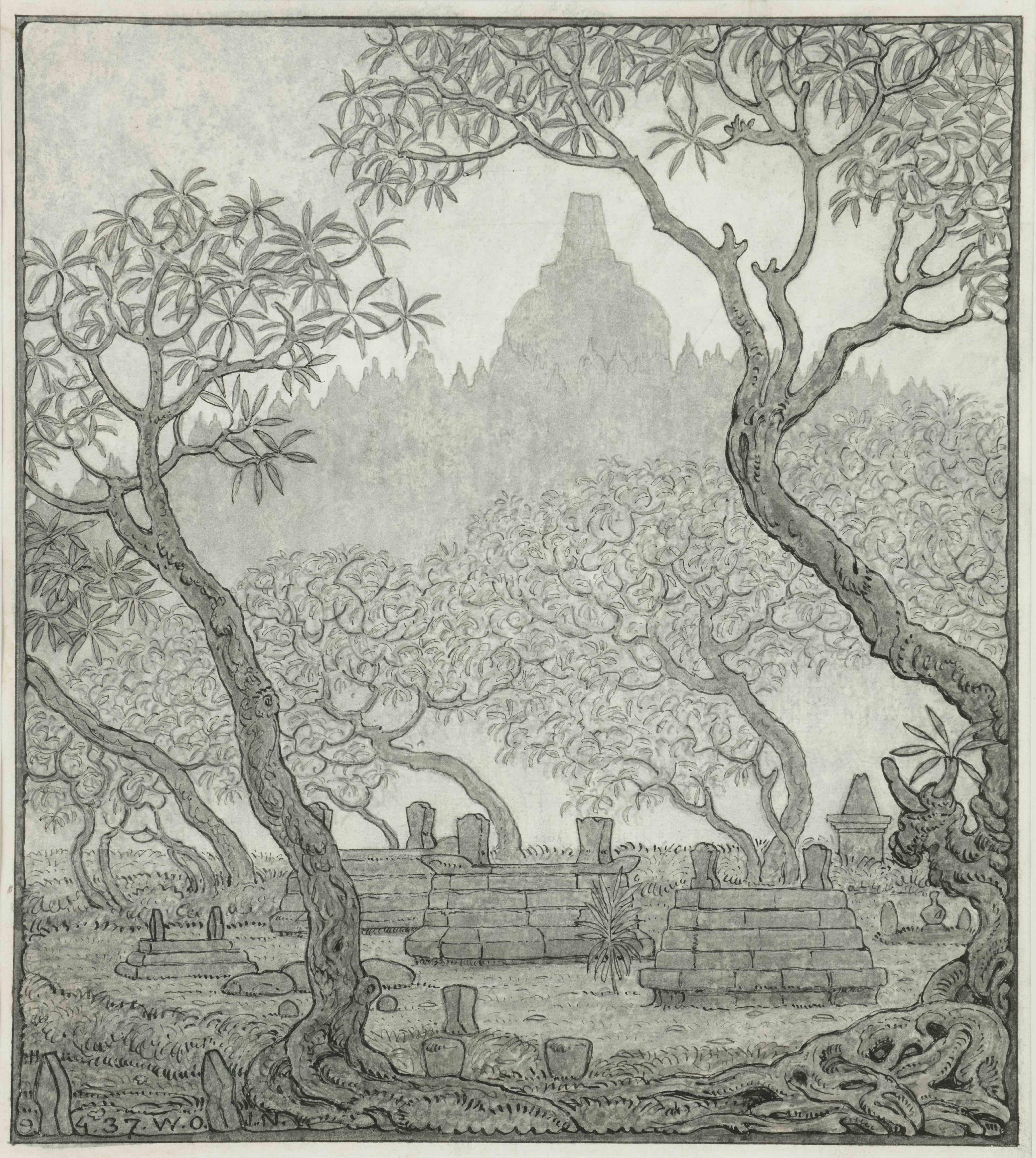 Borobudur, Java, Indonesia (1937)