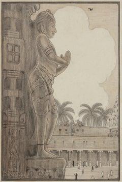 Stone Statue, Madura, India, 1914