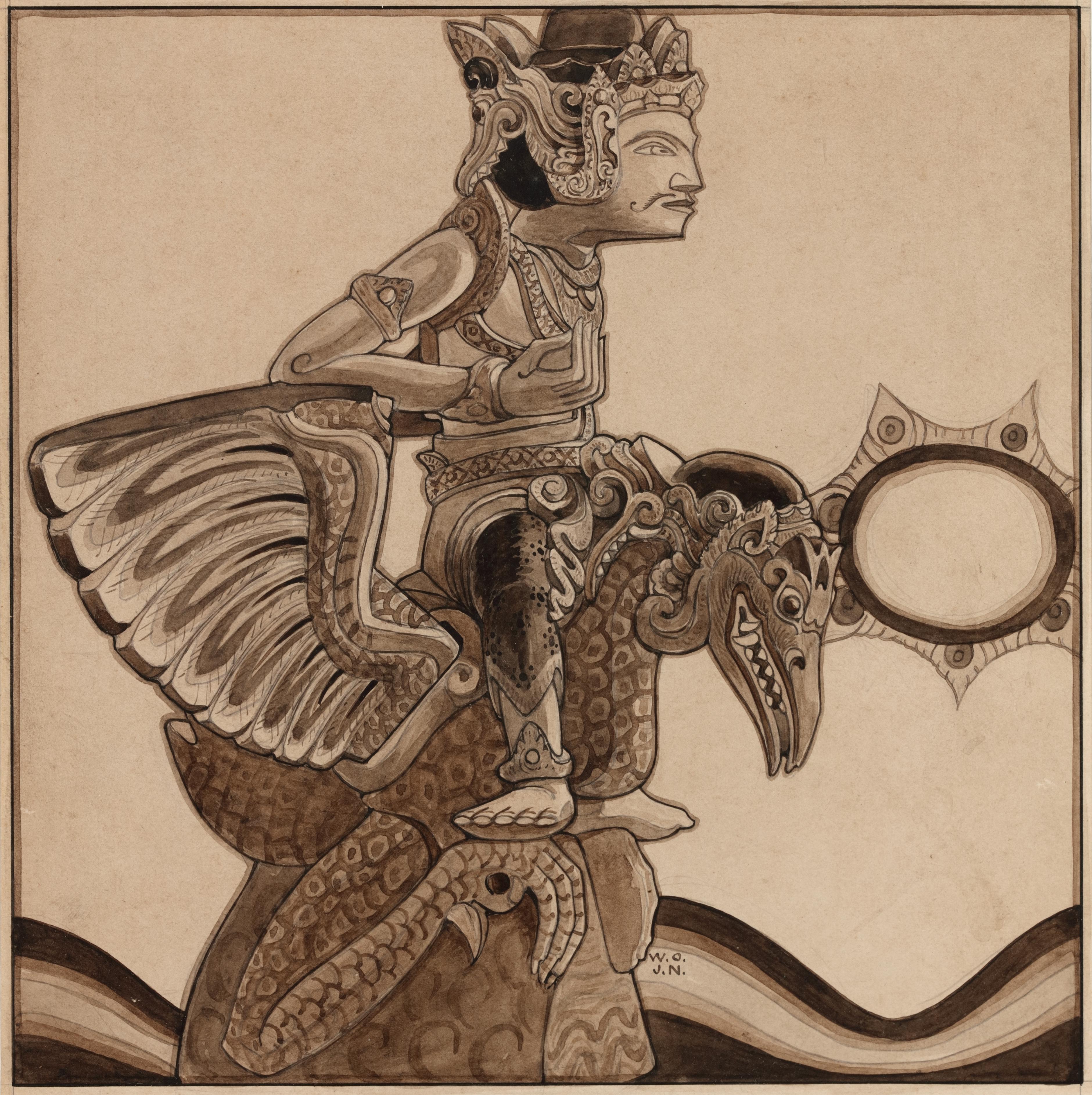Statue of Vishnu Garuda, Bali, 1904