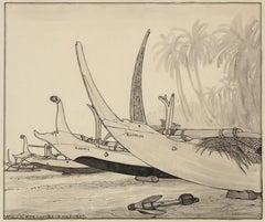 Beach of Kusambe, Bali 1937