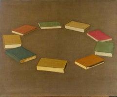 Hanan Shlonsky, Circle of Literature, 2007 tempera on linen, 82x100 cm