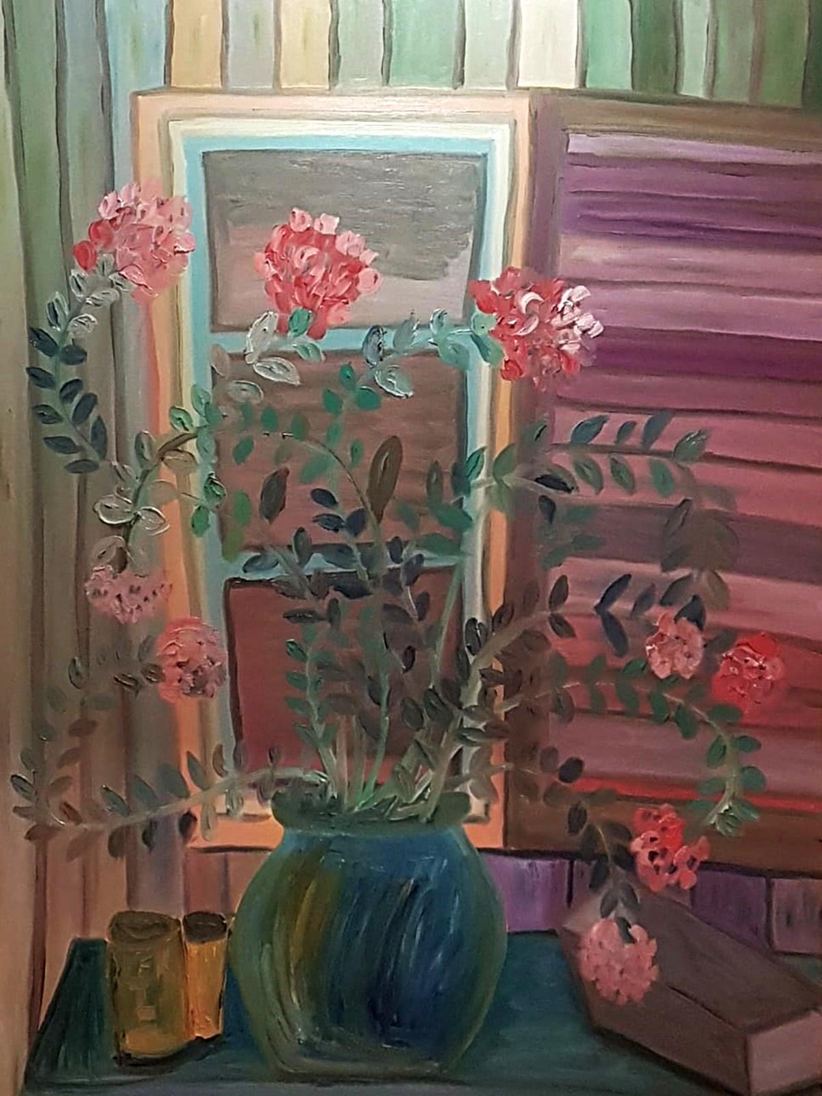Dondi Schwartz, Summer Presence, oil on canvas, 120x90 cm