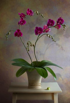 Albert Benaroya (Israeli), Red an Purple Orchids, oil on canvas, 81x56 cm