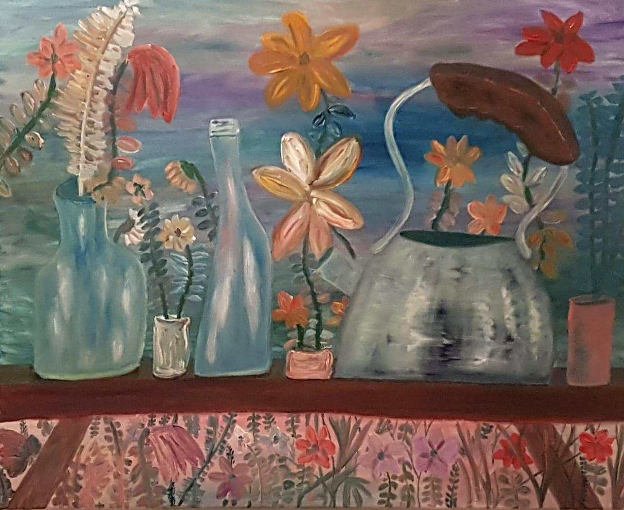 Dondi Schwartz, Kontrapunkt (Counterpoint), oil on canvas, 80x100 cm