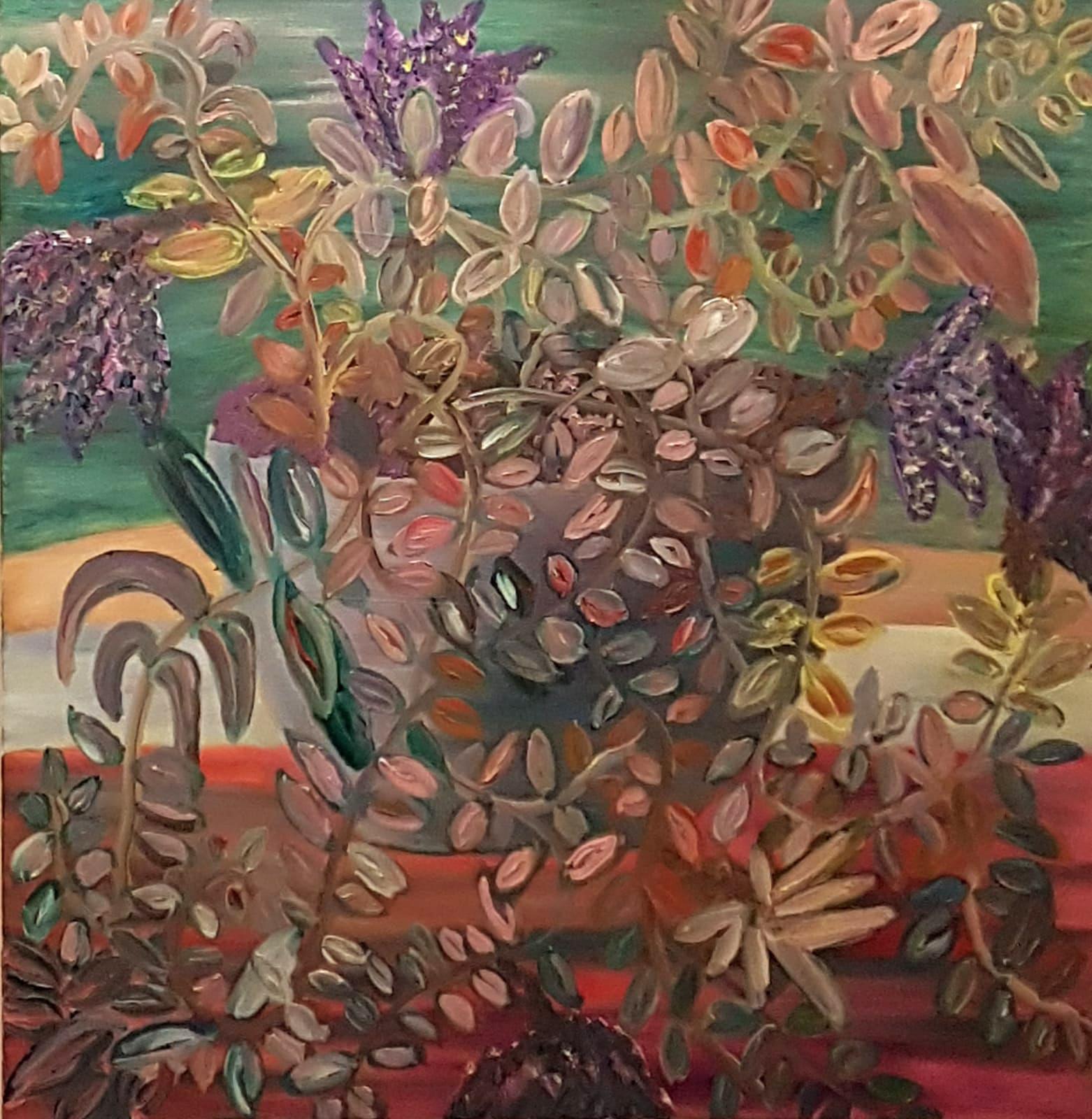 Dondi Schwartz, Wig-wag, oil on canvas, 100x100 cm