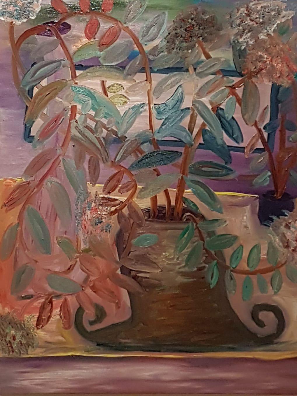 Dondi Schwartz, The bright side, oil on canvas, 100x80 cm