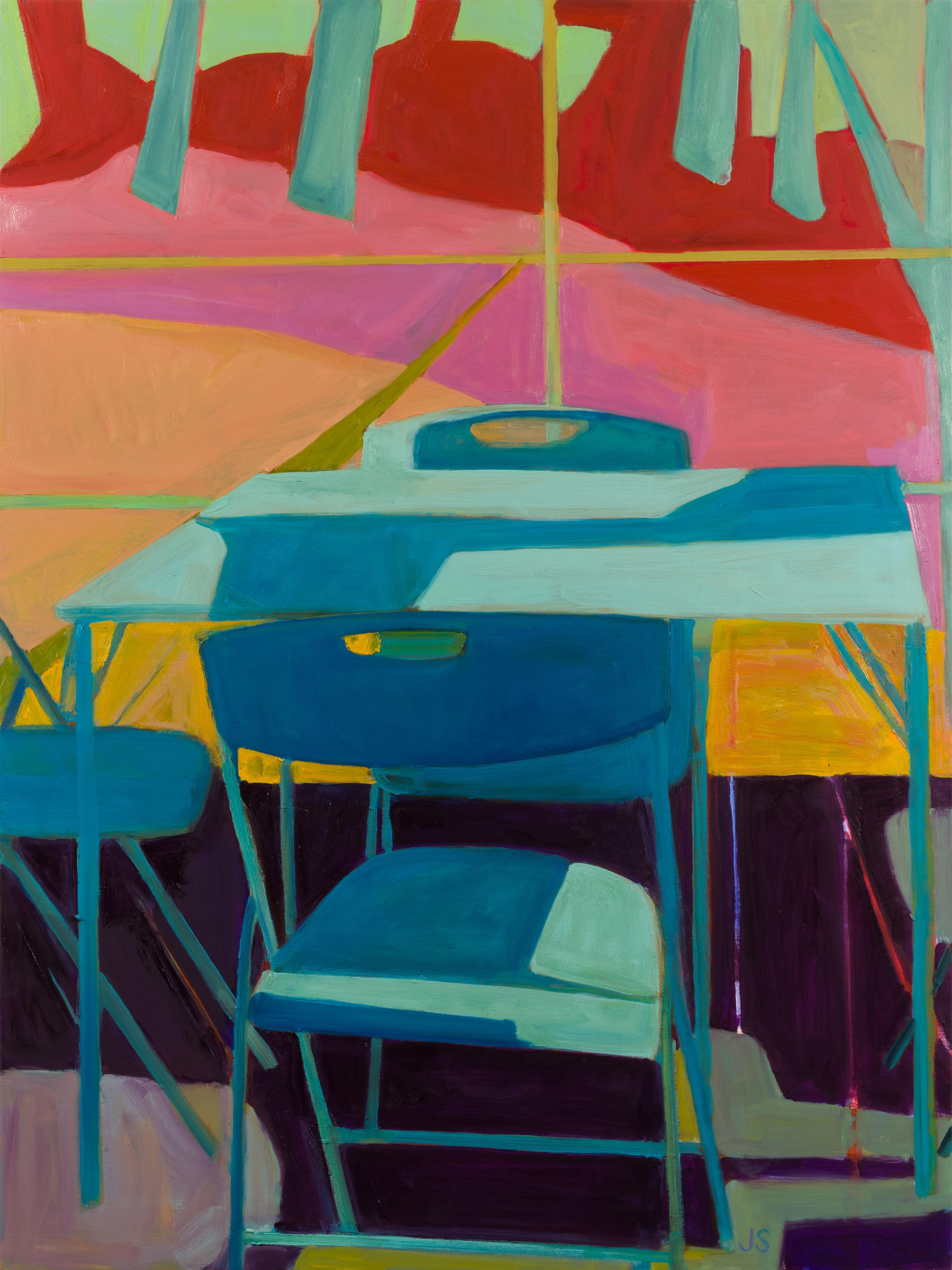 """When The Blackbird Flew 2,""  Modern, figurative still life, oil on wood"