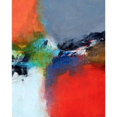 Inner Wisdom- Abstract Multicolored Glossed Oil Painting on Canvas