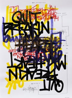 Mint Condition- Primary Colors Graphic Text, Marker, Pen & Pencil on Paper