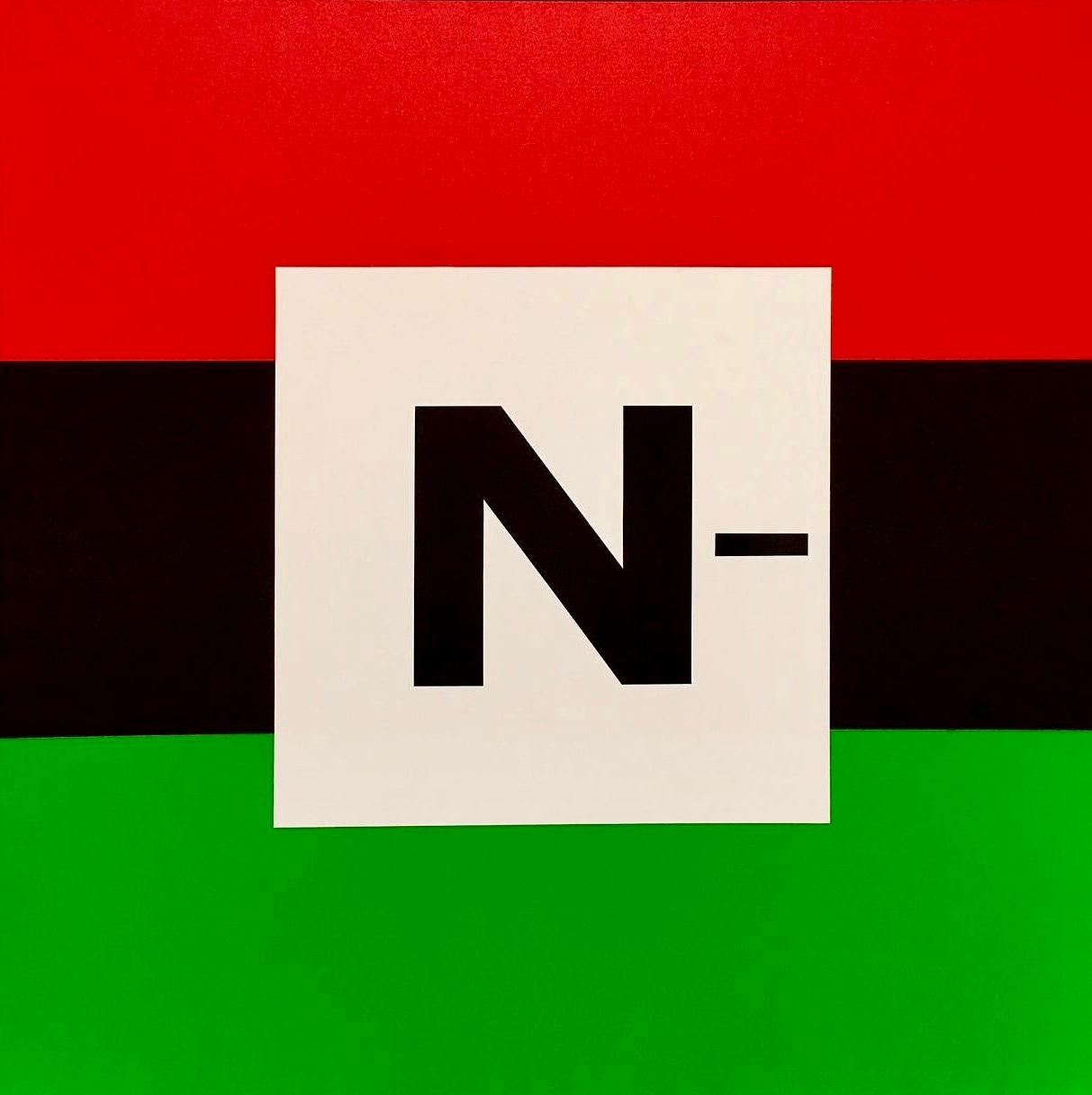 Milan Tiff, 'The N Word' [signed square painting]