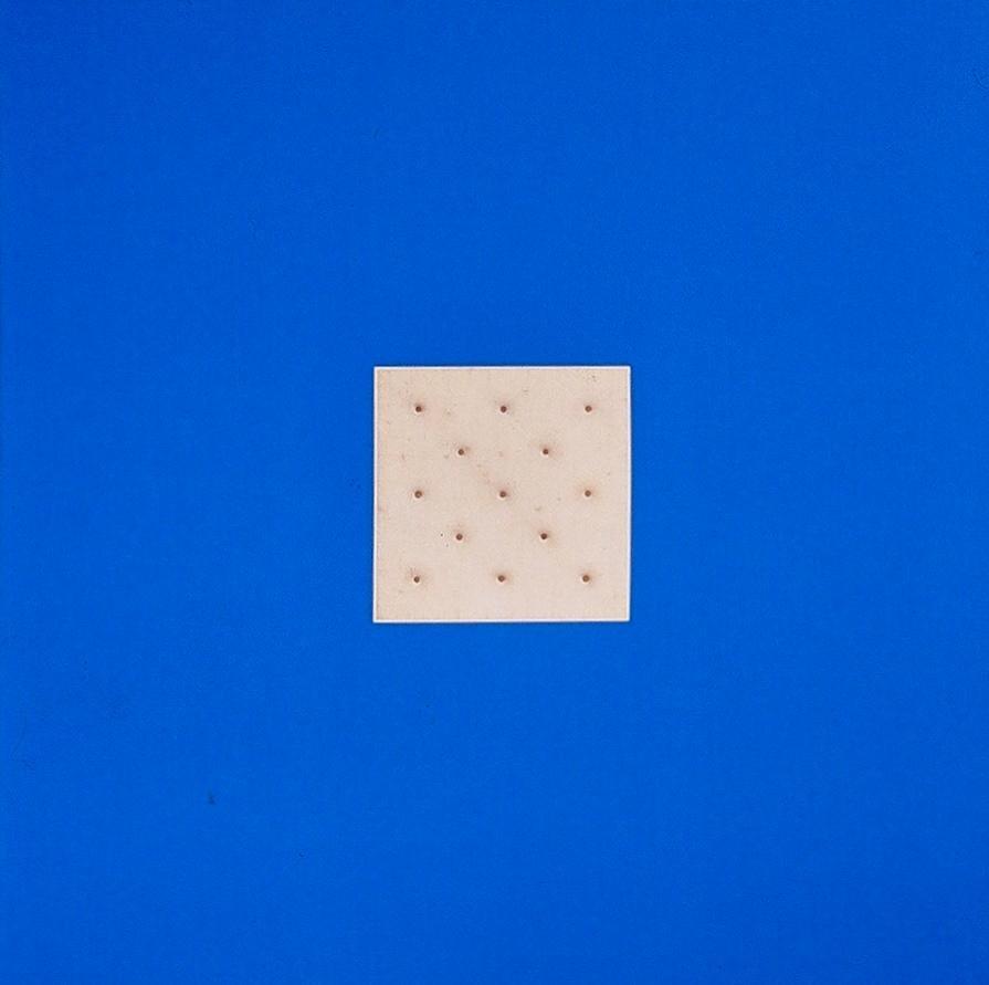 Milan Tiff, 'Cracker' 48 x 48 painting