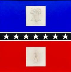 Milan Tiff, 'The Mason/Dixon Line' 48 x 48 painting