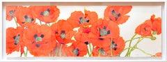 """Bright Poppies"" by Gary Bukovnik, Watercolor, 2019"