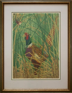 """""""Among the Tule"""" by Janet Turner, Serigraph, 1967"""