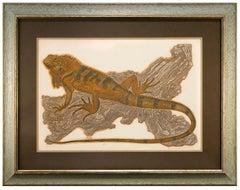 """Iguana I"" by Janet Turner, Intaglio/Serigraph, 1976"