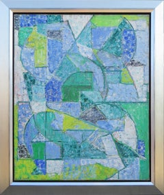 """""""Composition verte"""" by Alexandre Istrati, Oil on canvas, 1956"""