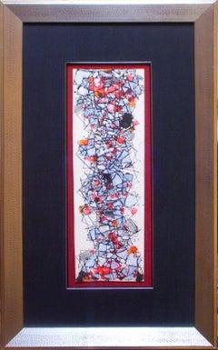 """Composition"" by Natalia Dumitresco, Gouache and ink on cardboard, circa 1959"