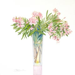 Oleander in a Tall Vase