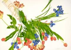 """Joyful Escape,"" floral watercolor by Gary Bukovnik, 2019"