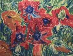 Sir Jacob Epstein, Still life of Poppies, Jewish Modernist artist