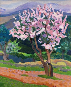 Ernest Yarrow Jones, Post-Impressionist view of Blossom in Corsica