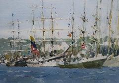 John Yardley, The Armada at Rouen, commemorating the Normandy Landings in 1944