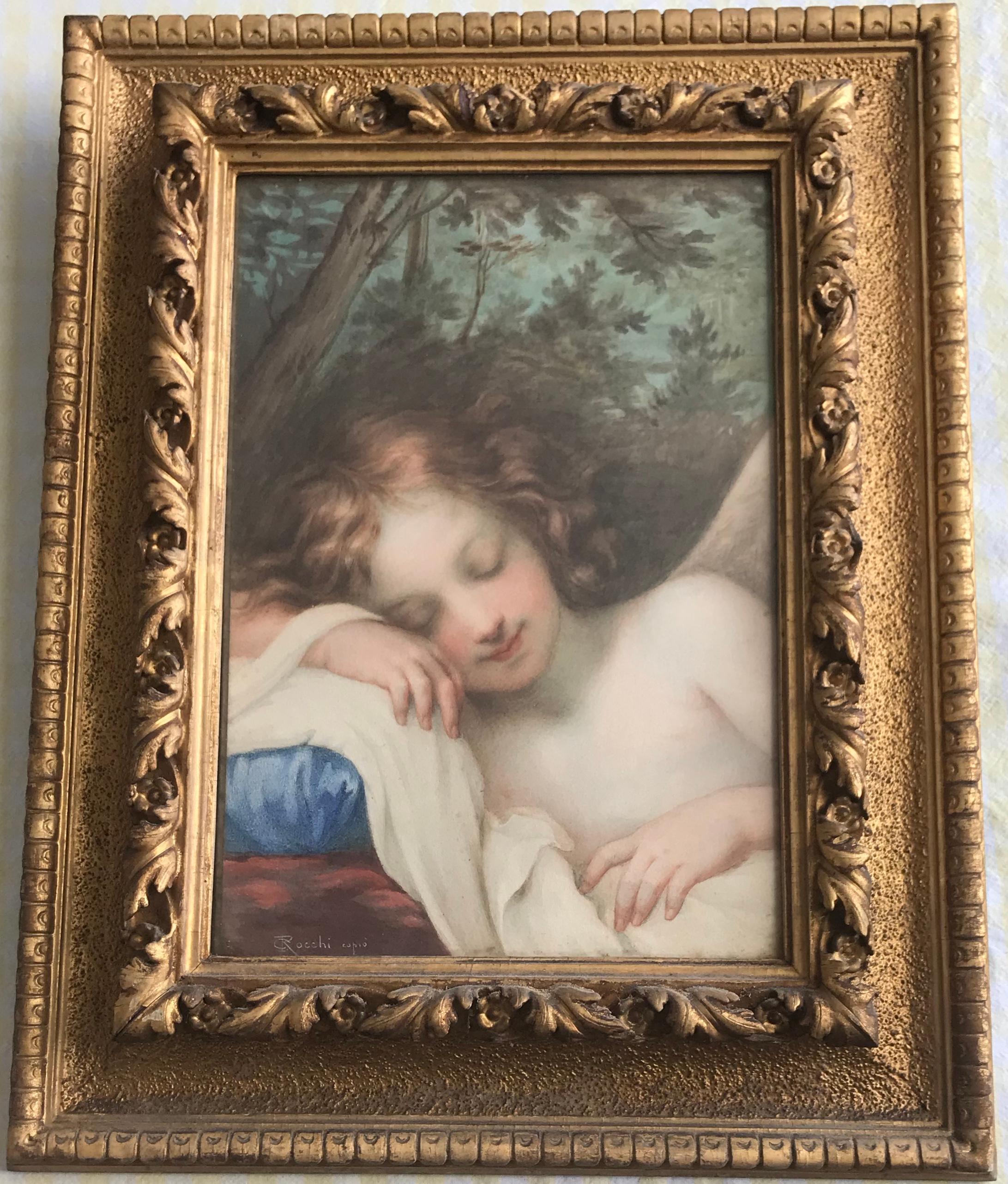 19th Century Sleeping Cupid, After Old Master Baldassarre Franceschini