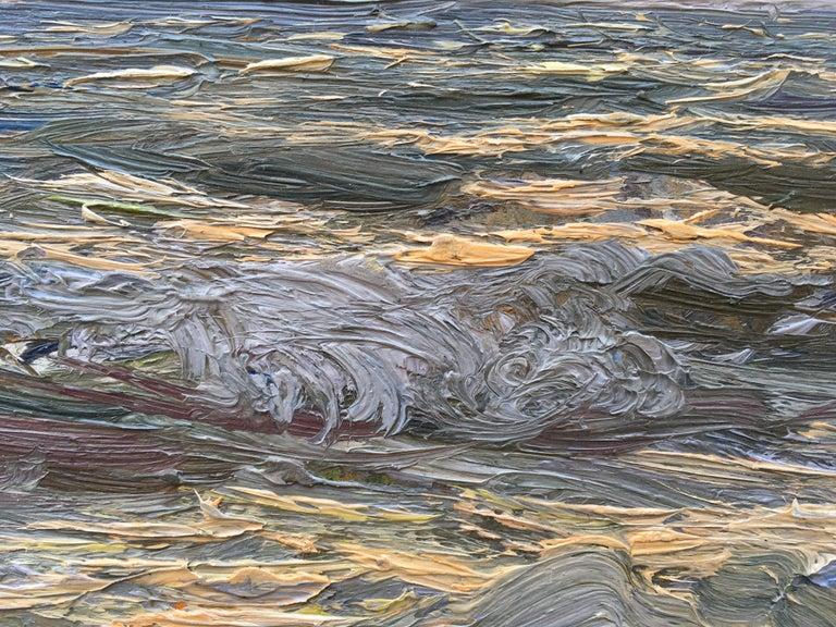 Giorgio Belloni, Italian Impressionist, plein air seascape, Ligurian coast For Sale 1