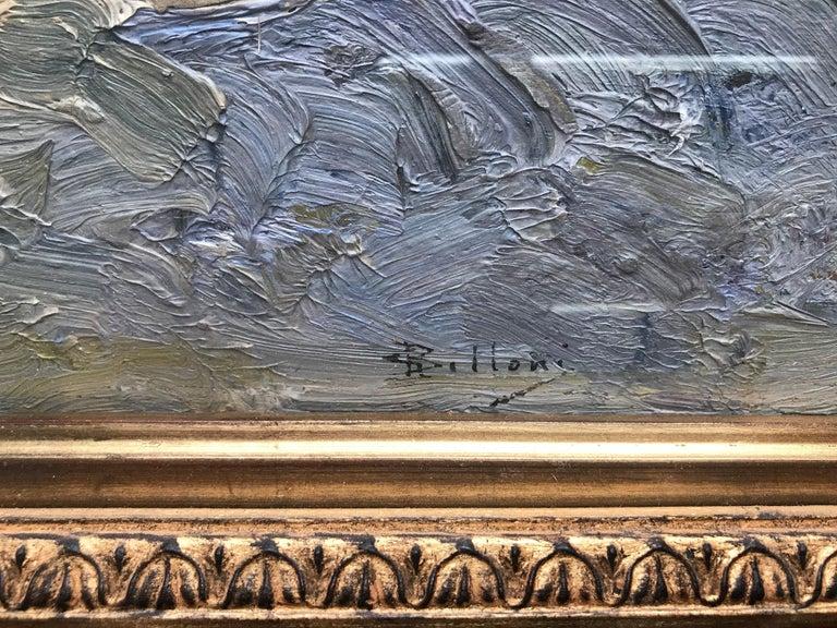 Giorgio Belloni, Italian Impressionist, plein air seascape, Ligurian coast For Sale 2
