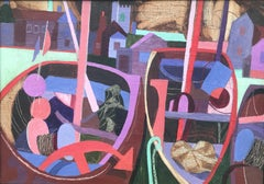 George Large, Cubist oil of beached boats